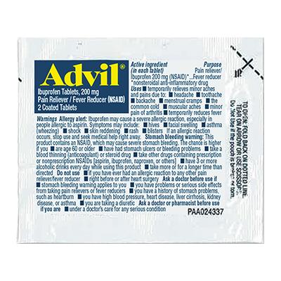 Advil Travel Packet