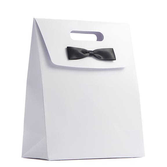 Tuxedo White Bag